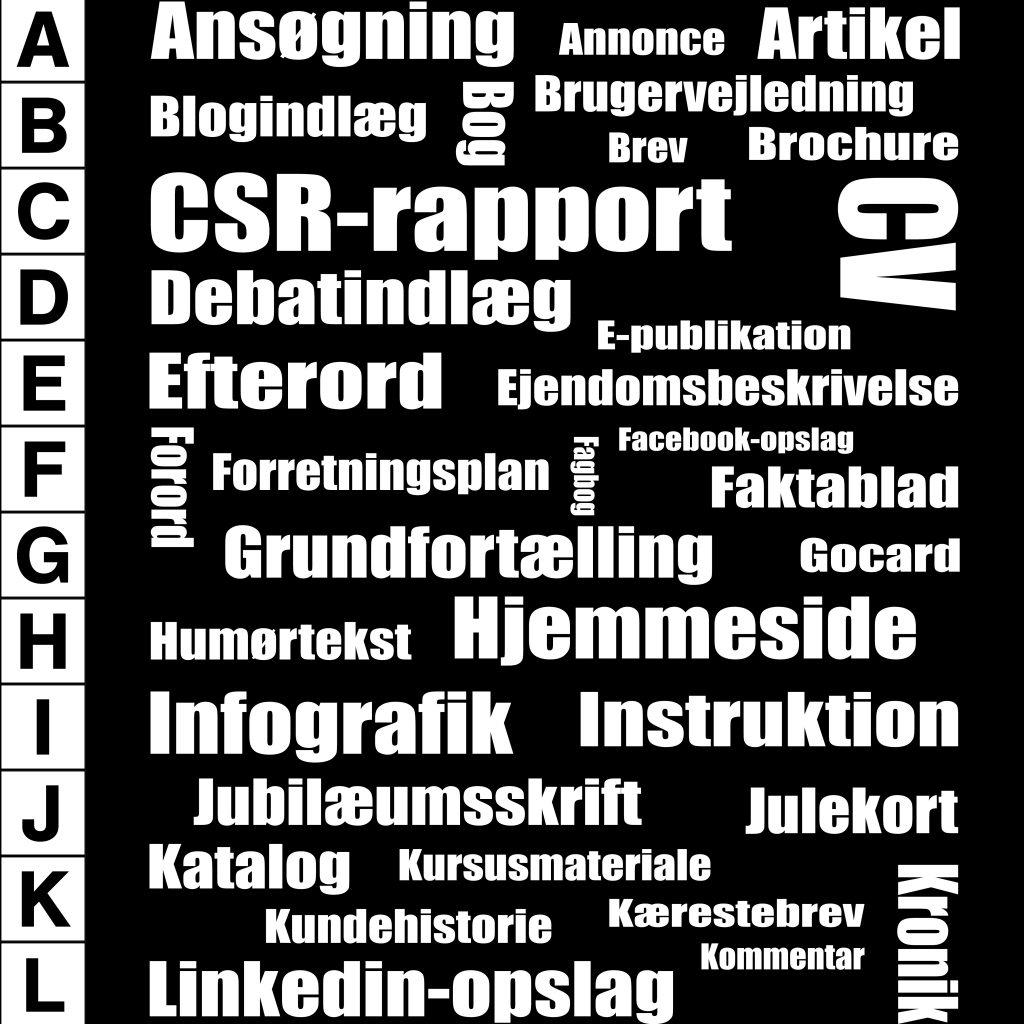 Tekstforfatning, ansøgning, artikel, csr-rapport, forretningsplan
